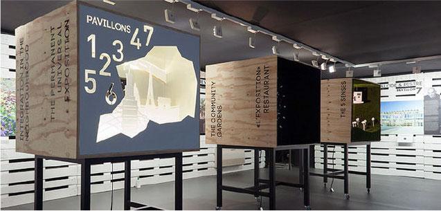 création, conception, scenographie, decor, set design exposition showroom architecture viparis