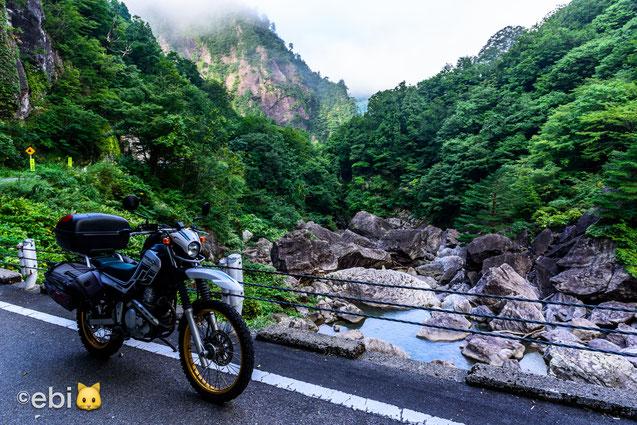 野猿の岩場