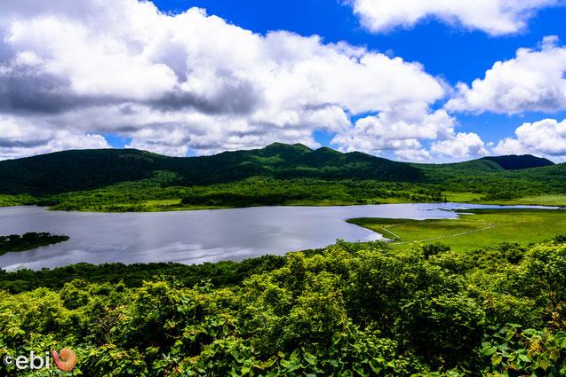 雄国沼 展望台からの景色