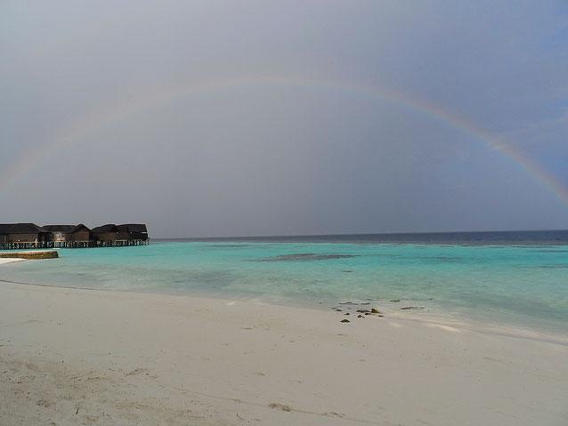 Arcobaleno alle Maldive (febbraio)