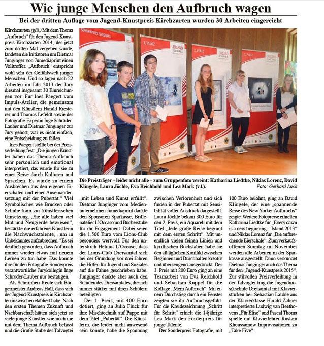 Lions Dreisamtal Hauptsponsor des Jugendkunstpreises