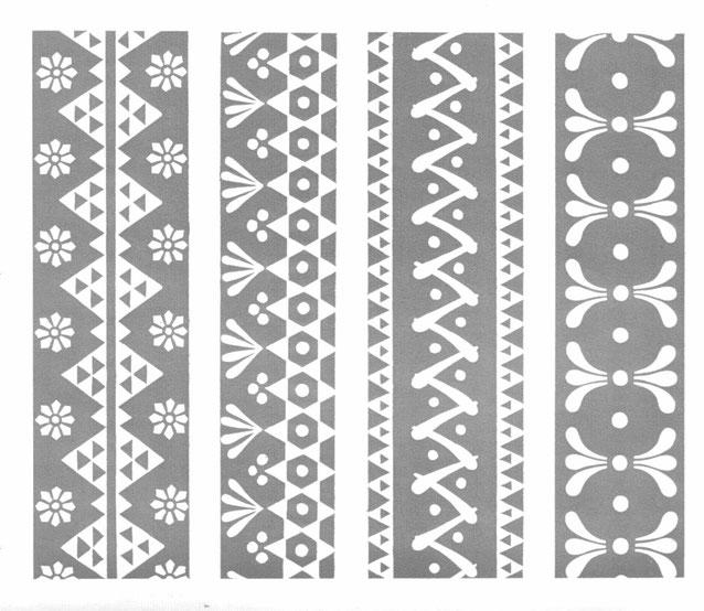 Muster und Motive zum bemalen von Ostereiern