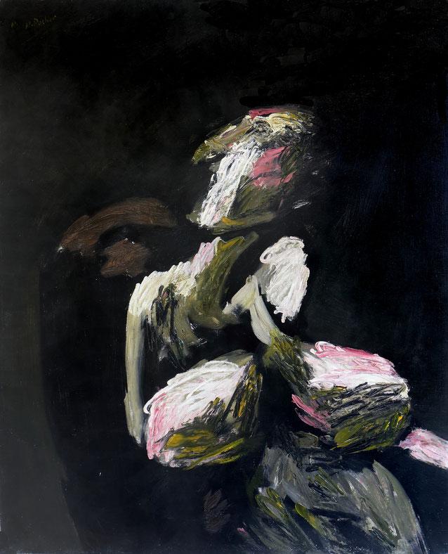 Maurice Rocher, Couple n°52, 1983, peinture sur toile, 100 x 81 cm