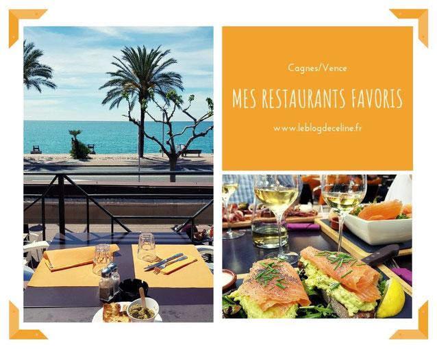 restaurants favoris cagnes sur mer et Vance