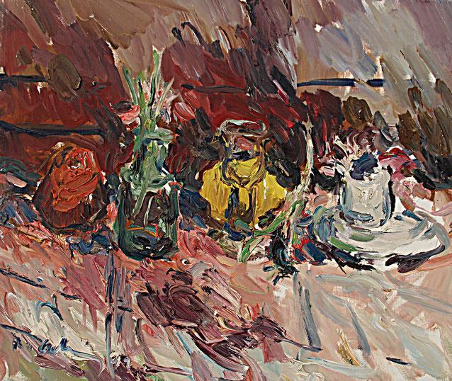 Rotes Stillleben   1991, Öl auf LW, 46 cm x 55 cm
