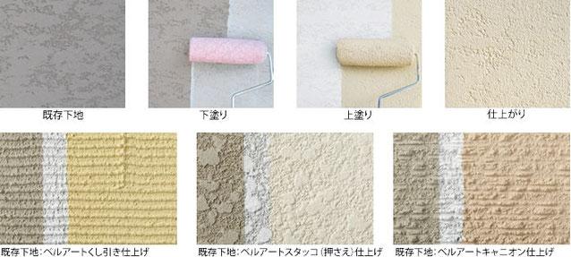 意匠性外壁素材用塗料材