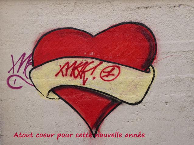 Vu sur un mur de la Guillotière et réutilisé pour les voeux d'un club de... bridge (Photo : AD)