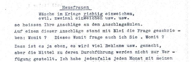 Beschwerde von Frau Erika Bork vom 29.5.1942 an den RVA. BArch R5002/35.