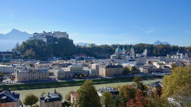 Ausblick vom Kapuzinerberg, Salzburg