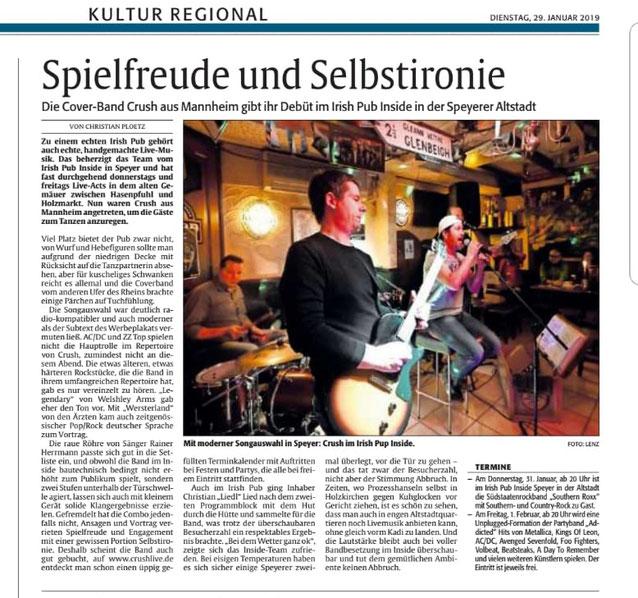 Die Rheinpfalz | 29.01.2019