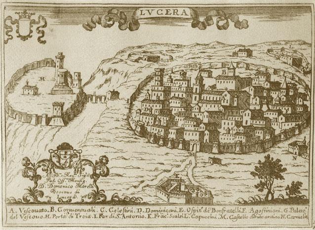 Veduta di Lucera dal Pacichelli