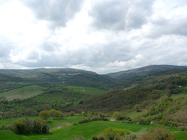 La Valle del Celone nei pressi di Castelluccio Valmaggiore (Foggia)