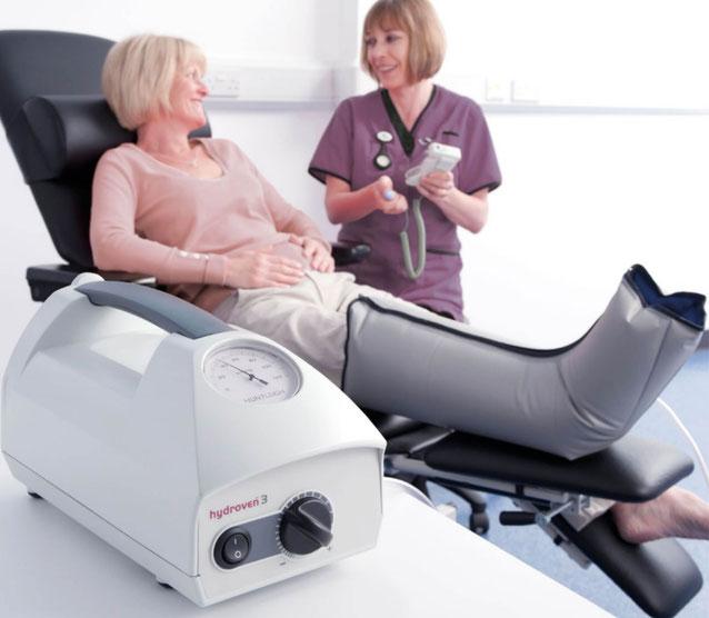 Hydroven 3 met manchet voor het oedeem been bij vocht in de benen