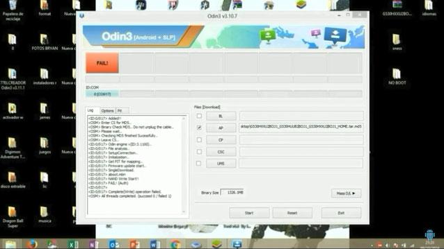 Solucionar FAIL en ODIN - Samsung Repair Firmware - Inicio