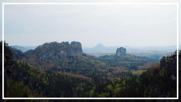 Sächsische Schweiz. Affensteine. Schrammsteine. Wilde Hölle. Nationalpark. Deutschland.