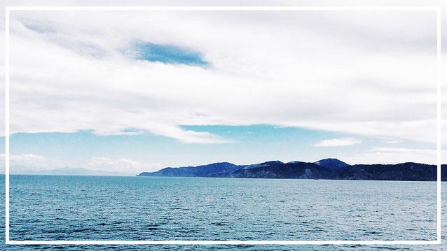 Neuseeland. Fähre. Nordinsel. Südinsel. Sounds.