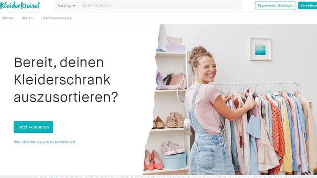 Screenshot von kleiderkreisel.de