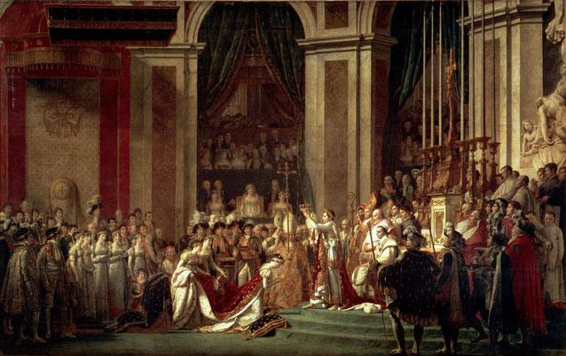 Коронация Наполеона - Жак Луи Давид. Знаменитые щедевры Лувра