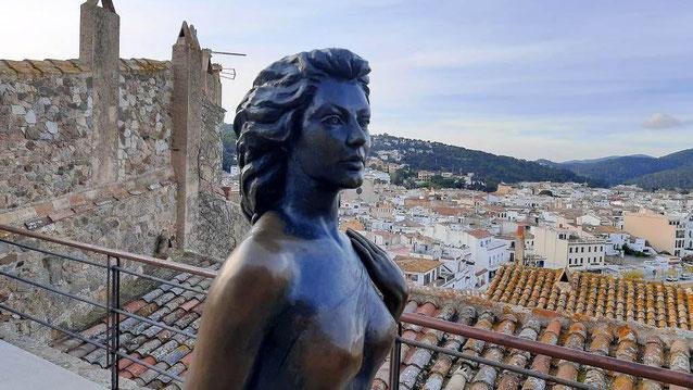 Памятник Аве Гарднер в Тосса де Мар