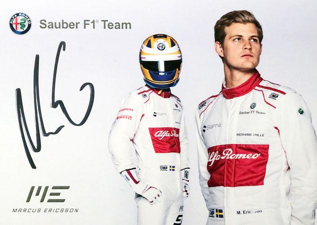 Autograph Marcus Ericsson Autogramm