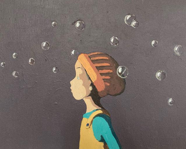 bubbles - Acryl auf Leinwand, 24x30cm, 2021