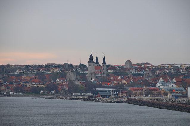 Land in Sicht: Visby auf der schwedischen Insel Gotland