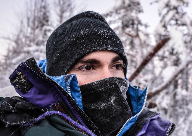 A quoi il est possible de ressembler quand la température descend un peu trop... Cils complètement gelés
