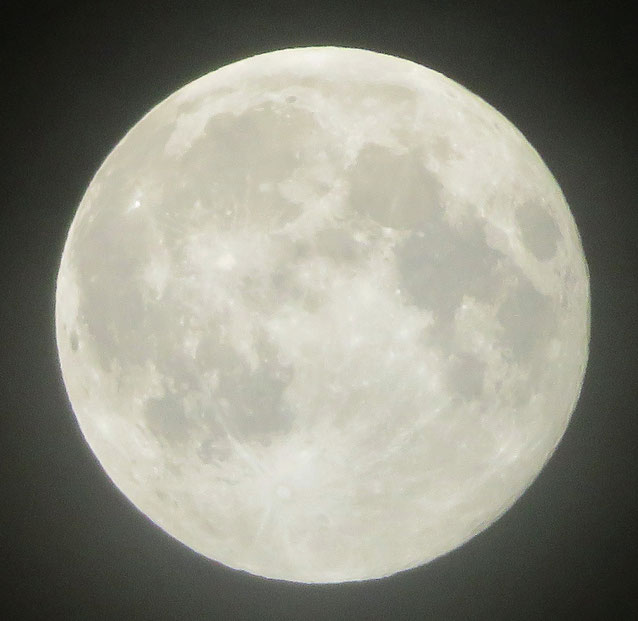 ∞ Strawberry Moon 6月28日の満月 於: 東京上空