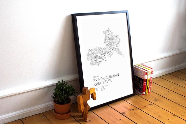 Skandinavische Poster und Karten