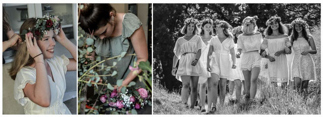 Flowercrown Workshop, Polteranlass, Jungesellinnen Abschied, Haarkranz Kurs, Bridal Party, Poltertag