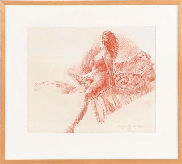 te_koop_aangeboden_een_rood_krijt_tekening_van_de_nederlandse_kunstschilder_evert_thielen_1954