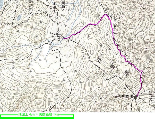 国土地理院1:25000地形図「剱岳」