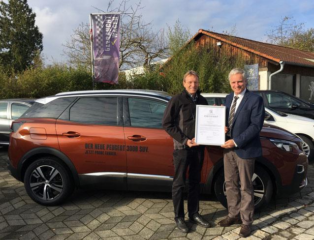 Peugeot, 3008, Werkstatttest, Auszeichnung, Stolz, Firmennews, Neuigkeiten, Award, Anerkennung, Test