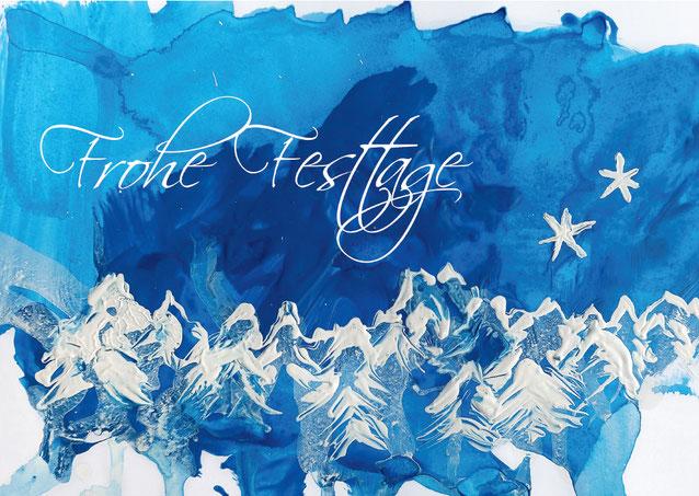 Weihnachtskarte für die Stiftung Kinderhilfe Sternschnuppe Zürich
