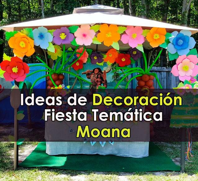 decoracion fiesta moana