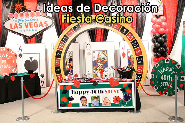 decoracion fiesta casino