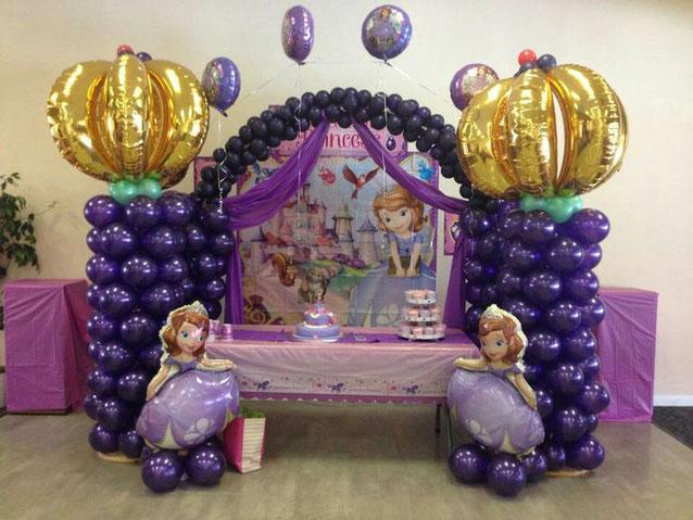 decoracion globos cumpleaños rapunzel