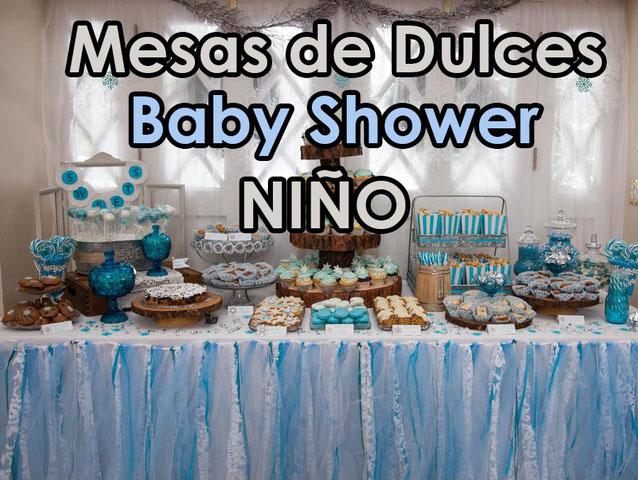 mesas para baby shower de niño