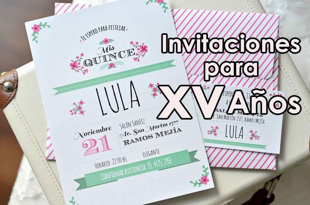 Invitaciones Para 15 Años Decoracion Para Fiestas