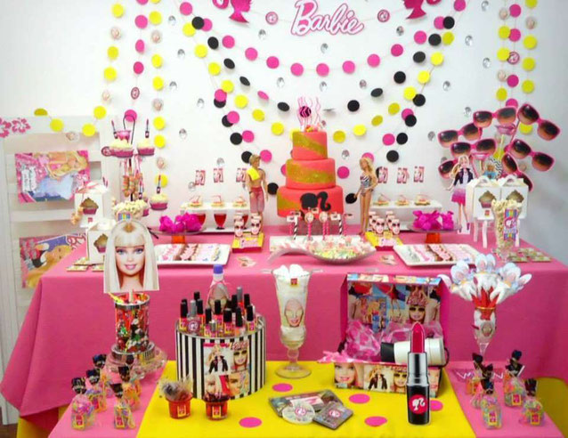 decoracion de cumpleaños de barbie