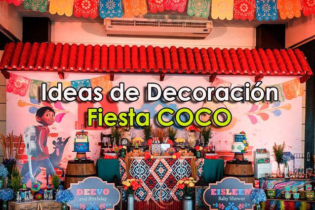 decoracion fiesta coco