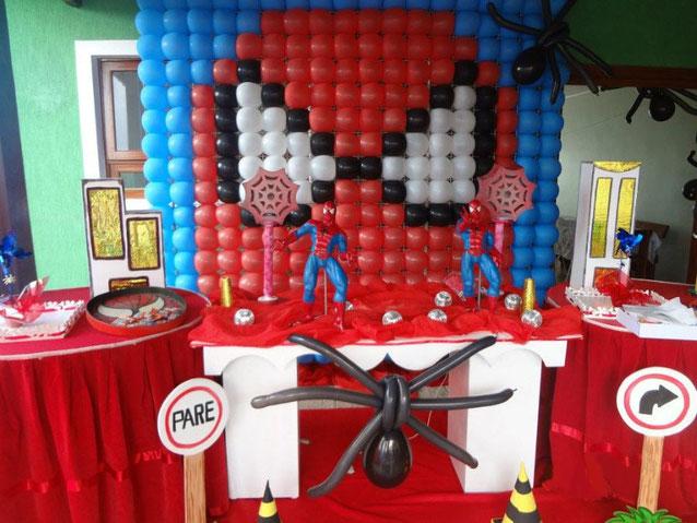 decoracion cumpleaños hombre araña