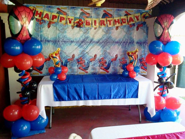 decoracion fiesta spider man