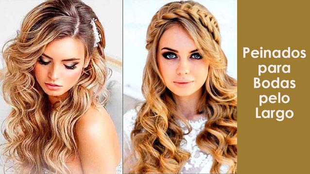 peinado para novia de pelo largo
