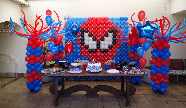 decoracion fiesta hombre araña