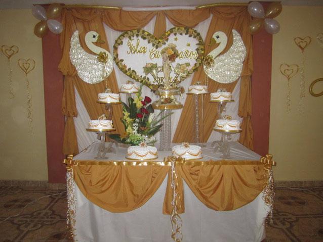 mesa de postres para boda civil
