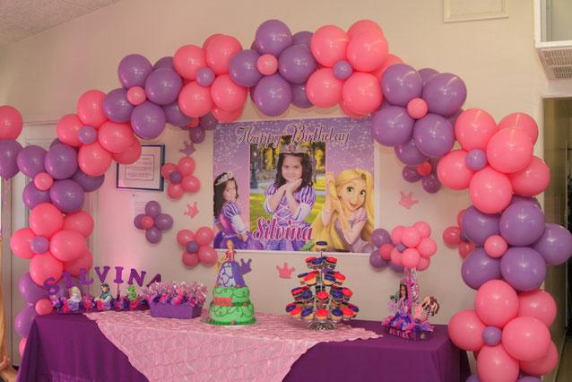 decoracion fiesta rapunzel