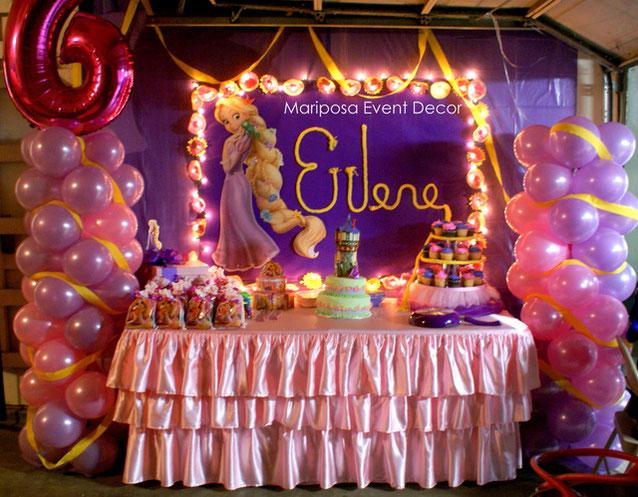decoracion cumpleaños rapunzel