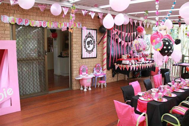 fiesta de barbie en casa