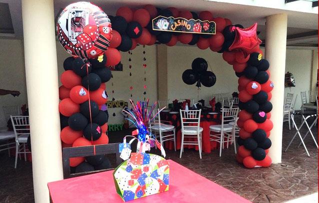 decoracion cumpleaños casino